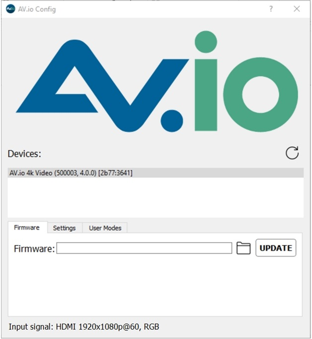 Install the AV io Config tool