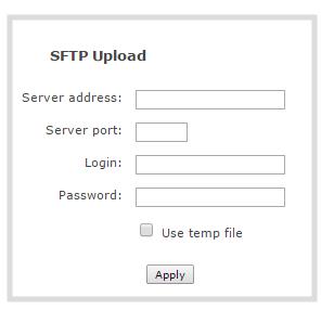 Configure AFU to SFTP server parameters