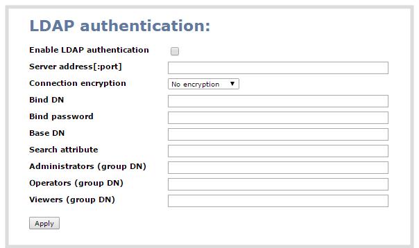Configure LDAP user authentication