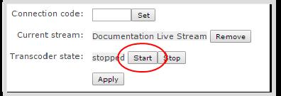how to start video wowza