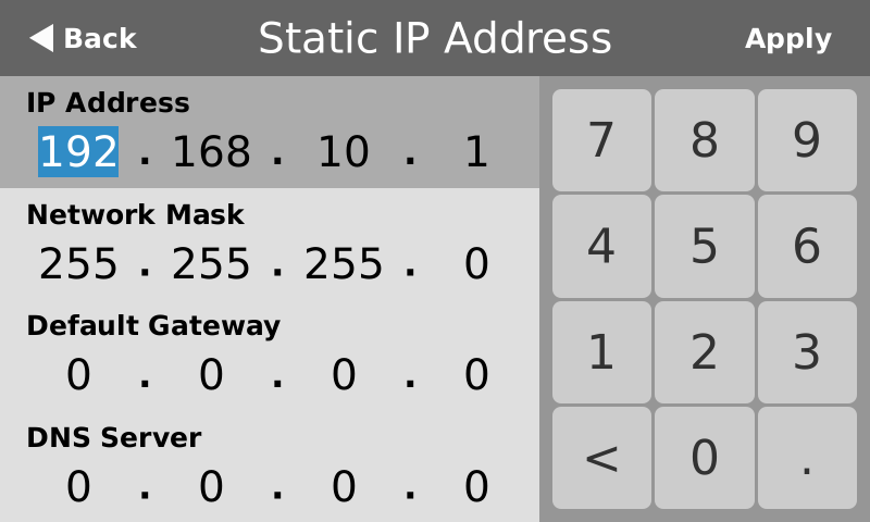Assigning static ip addresses