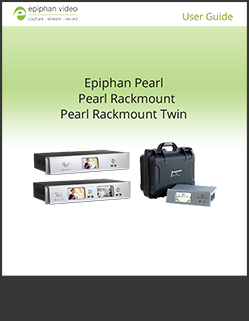 Epiphan Pearl for recording and streaming