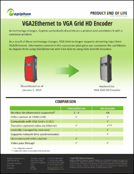 VGA2Ethernet to VGA Grid Migration Brochure