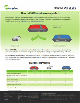 VGA2Ethernet Migration Brochure