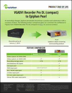 VGADVI Recorder Pro DL Migration Guide