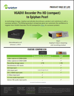 VGADVI Recorder Pro HD Migration Guide