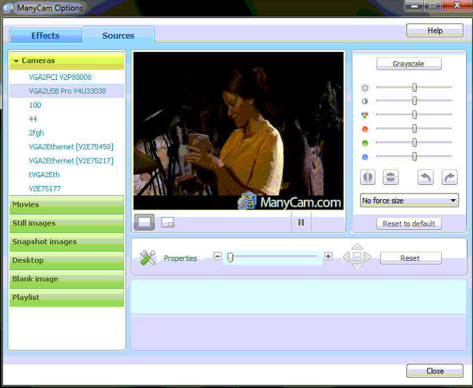 Broadcast video using ManyCam with Skype