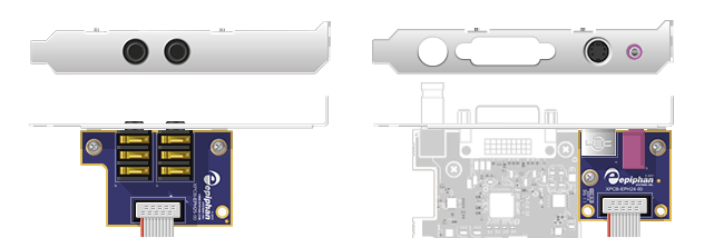 Full-height configuration (shown here for DVI2PCIe Duo)