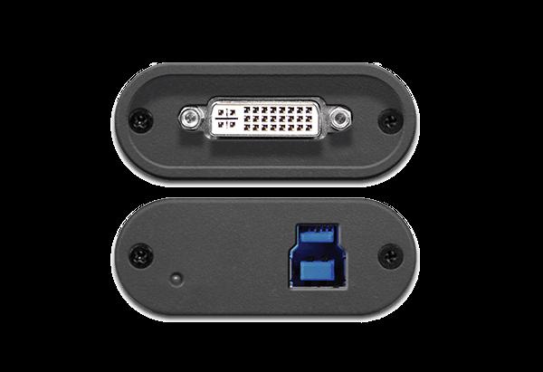 DVI2USB 3.0 - Top and Bottom Ports