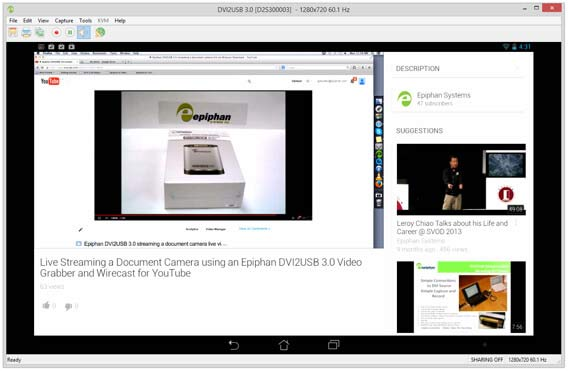 Streaming Android Tablet on Youtube