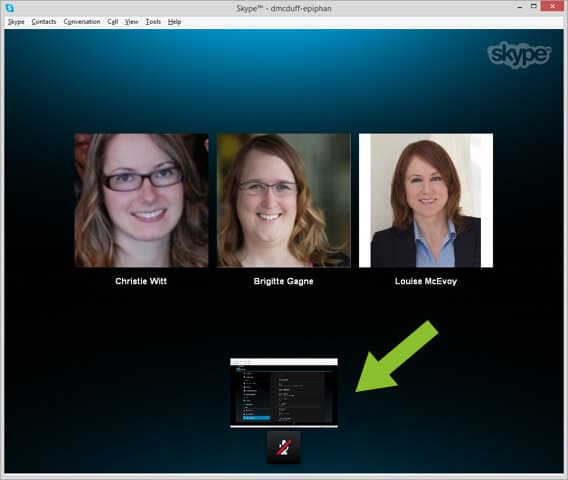 Sharing the Android Tablet screen on Skype