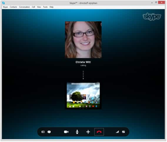 Connecting for a Video Call on Skype