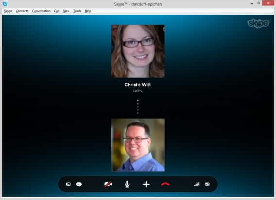 Connecting a Video Call on Skype