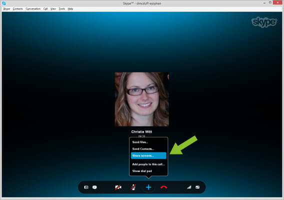 Sharing Screens on Skype