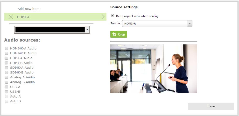 Pearl WebUI Channel Layout Add Video Source
