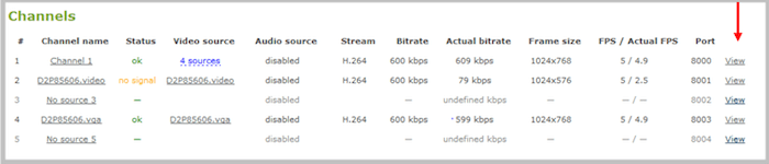 Previewing the Channel Streaming for Pro Devices