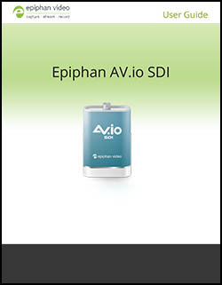 Epiphan AV.io HD User Guide