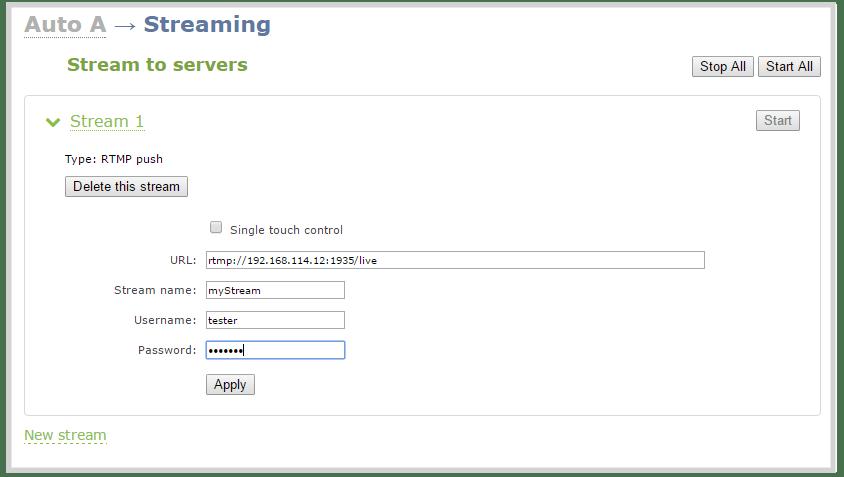 web stream to a server multipublishing xml file