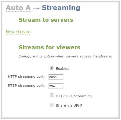 web stream to a server