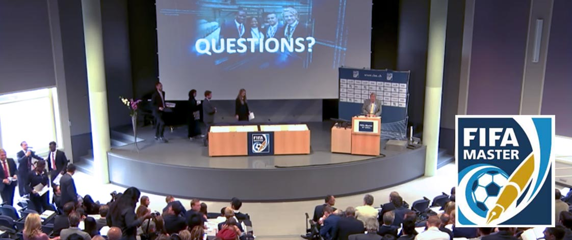 Streaming the FIFA Master conference to an international audience using Epiphan Pearl image