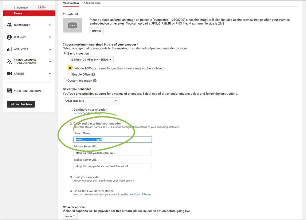 YouTube Encoding Settings