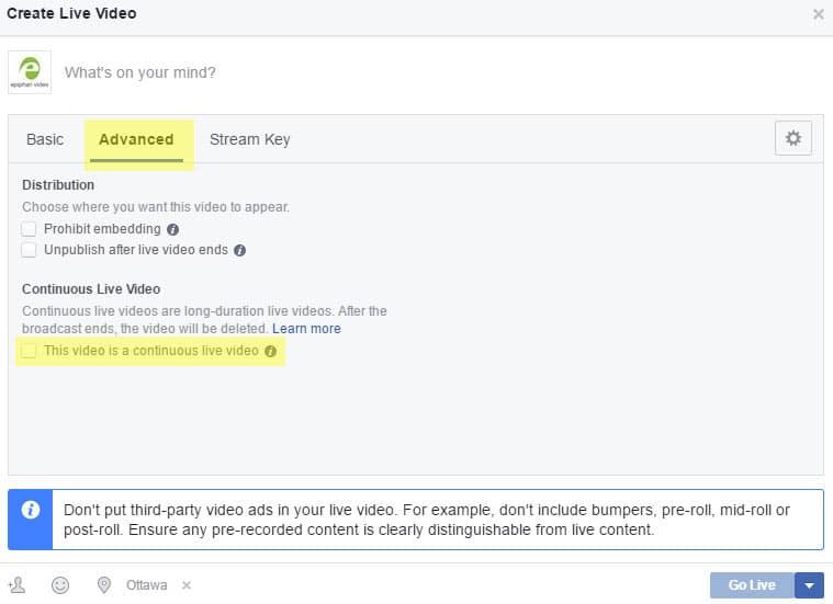 FB Continuous Video