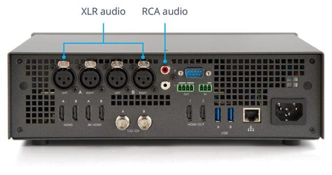 Pearl-2 audio ports