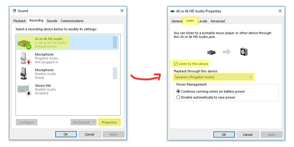 Windows 10 Sound Both Screens