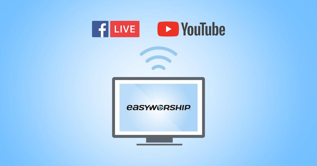 Live stream worship celebrations created with EasyWorship image