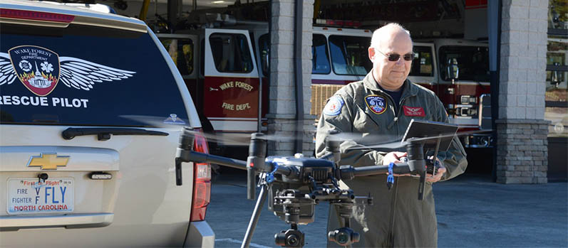 Steve Rhode and his search and rescue drone