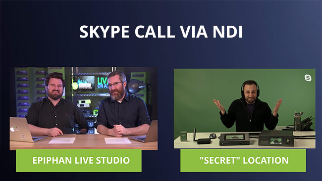 Remote guest via Skype with NDI