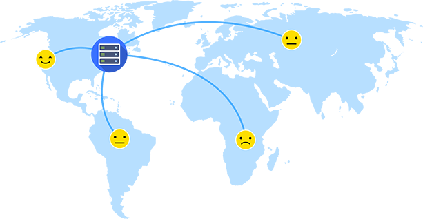 Single server delivery network