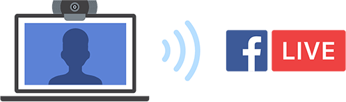 Streaming to Facebook with a webcam and laptop