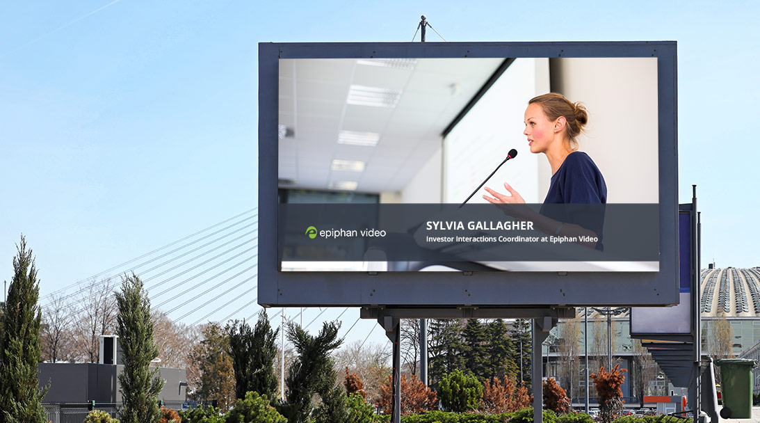 The easiest way to create digital signage image