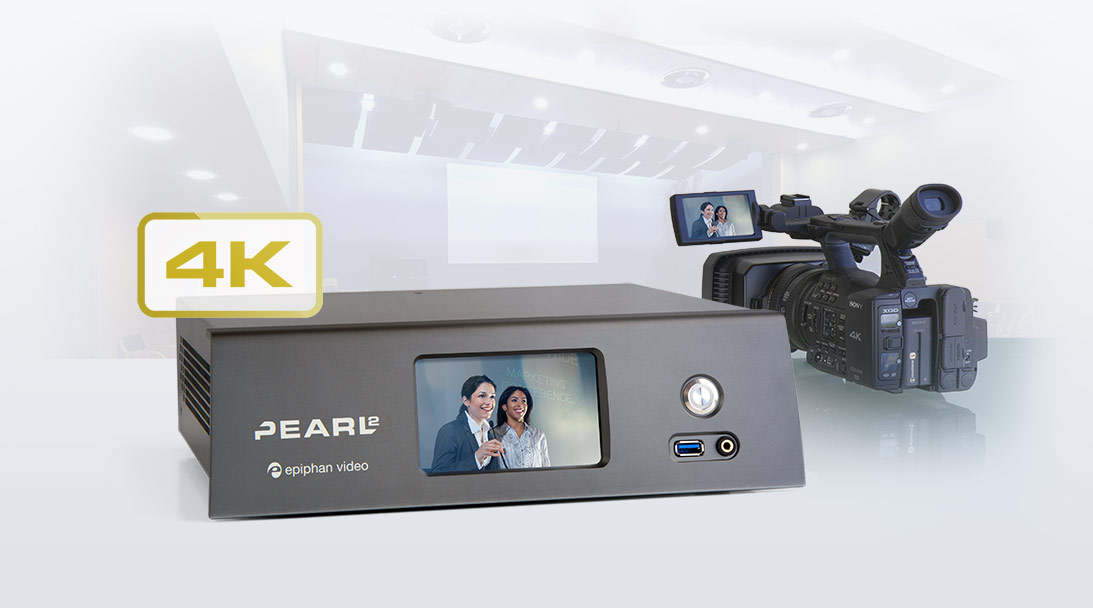 Wondering how to live stream a 4K video production? image