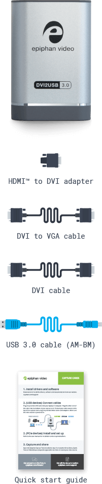 DVI2USB 3.0: What's in the box? (mobile)