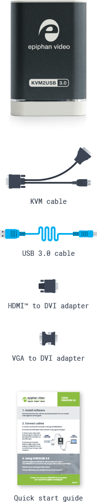 KVM2USB 3.0: What's in the box? (mobile)