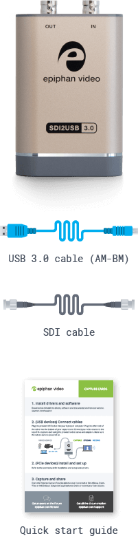 SDI2USB 3.0: What's in the box? (mobile)