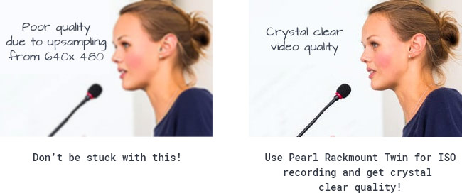 Use Pearl Rackmount Twin for ISO recording and get crystal clear quality!
