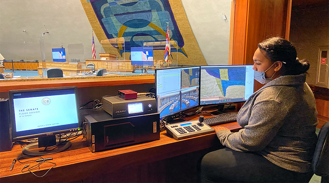 Pearl-2 and NDI power frictionless video production for Hawaii State Senate image