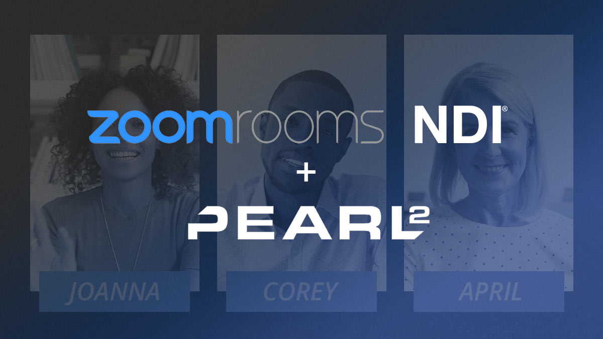Zoom NDI: How to use Zoom Rooms NDI support for live video production image
